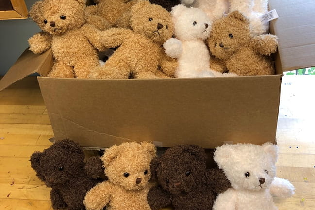 Donated teddy bears