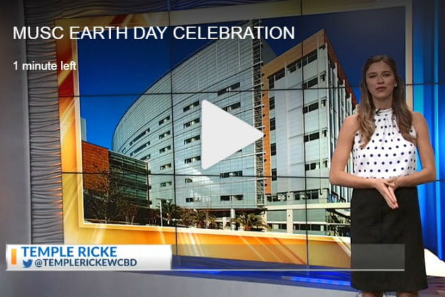 screen capture of earth day news story