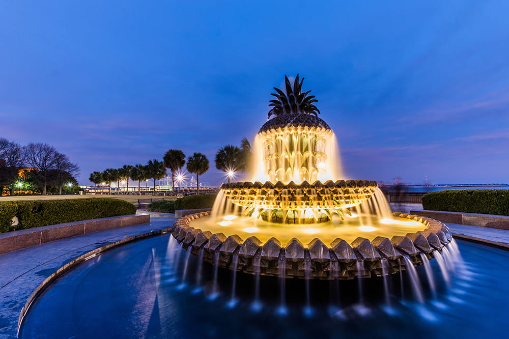 Charleston waterfront park pineapple fountain