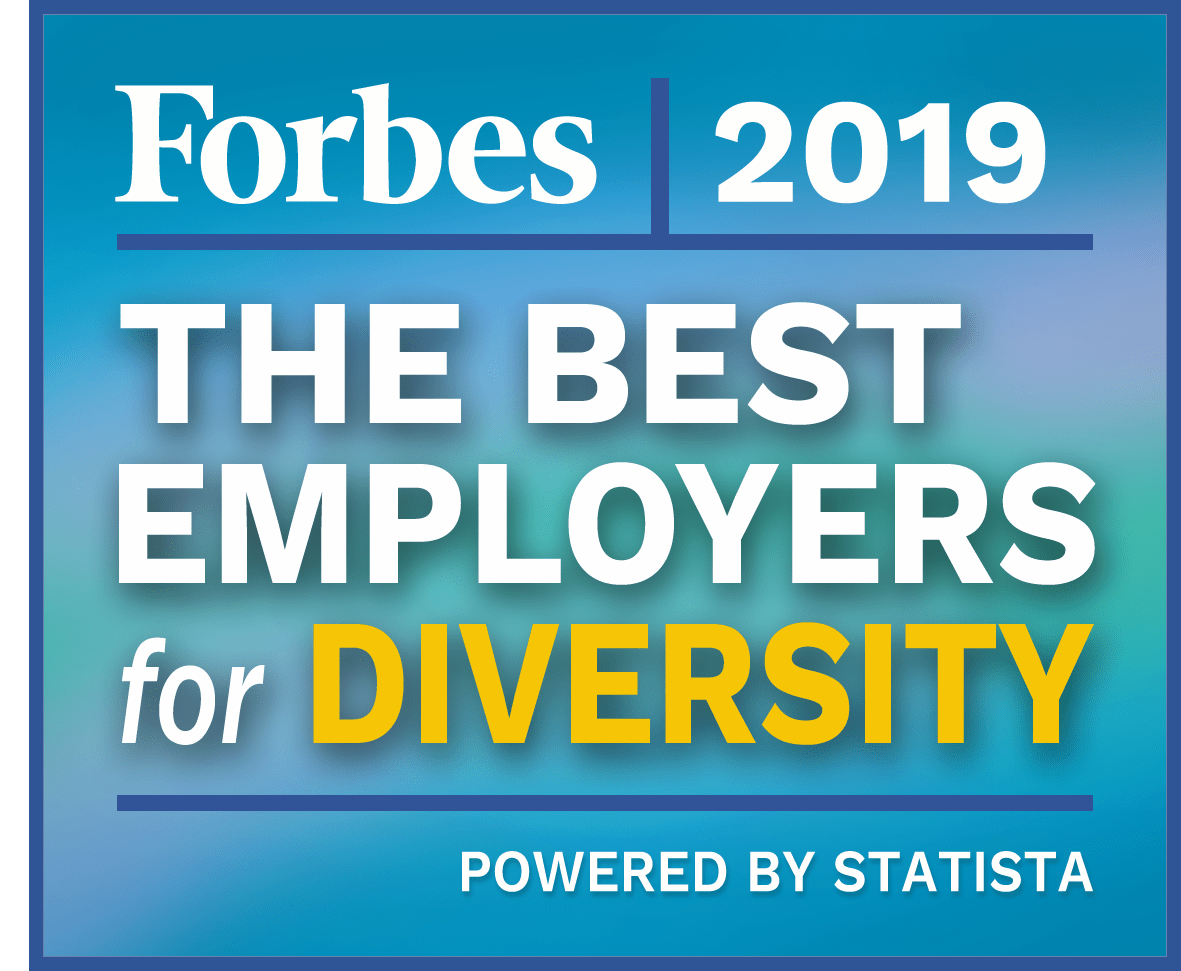 Forbes Logo; Best employers for diversity