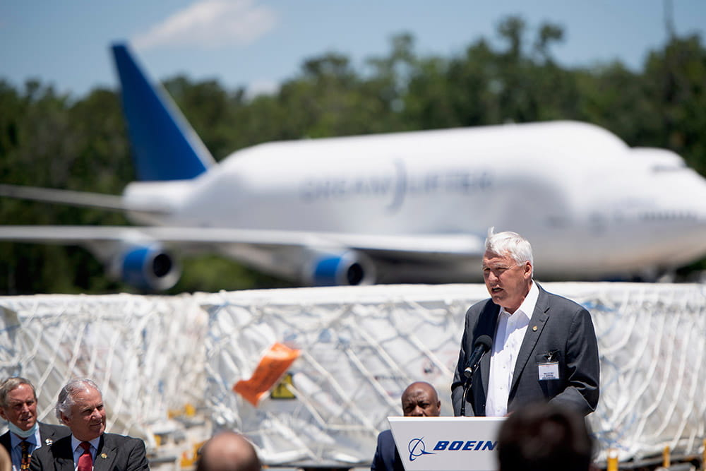 David J. Cole, M.D., FACS MUSC president speaks at Boeing Event