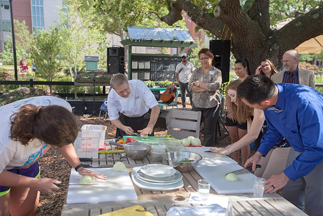 Image of cooking demonstration at Wellness event