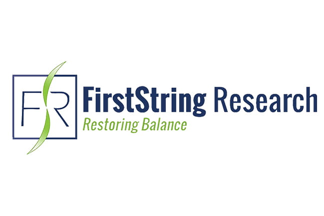 "FirstString Research logo ""Restoring Balance"""