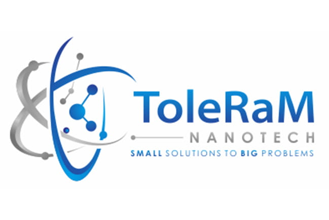 "ToleRam Nanotech logo ""Small Solutions to Big Problems"""