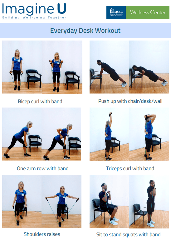 Desk workout reference guide