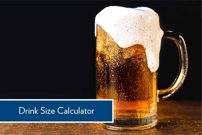 drink size calculator