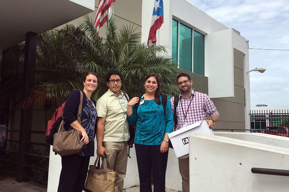 Dr. Regan Stewart, Dr. Michael de Arellano, Dr. Rosaura Orengo-Aguayo and psychology intern Freddie Pastrana-Rivera