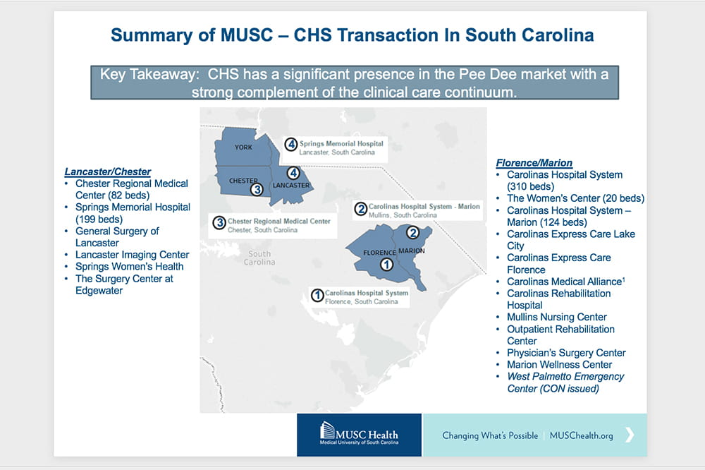 MUSC Health leadership talks community hospital acquisition