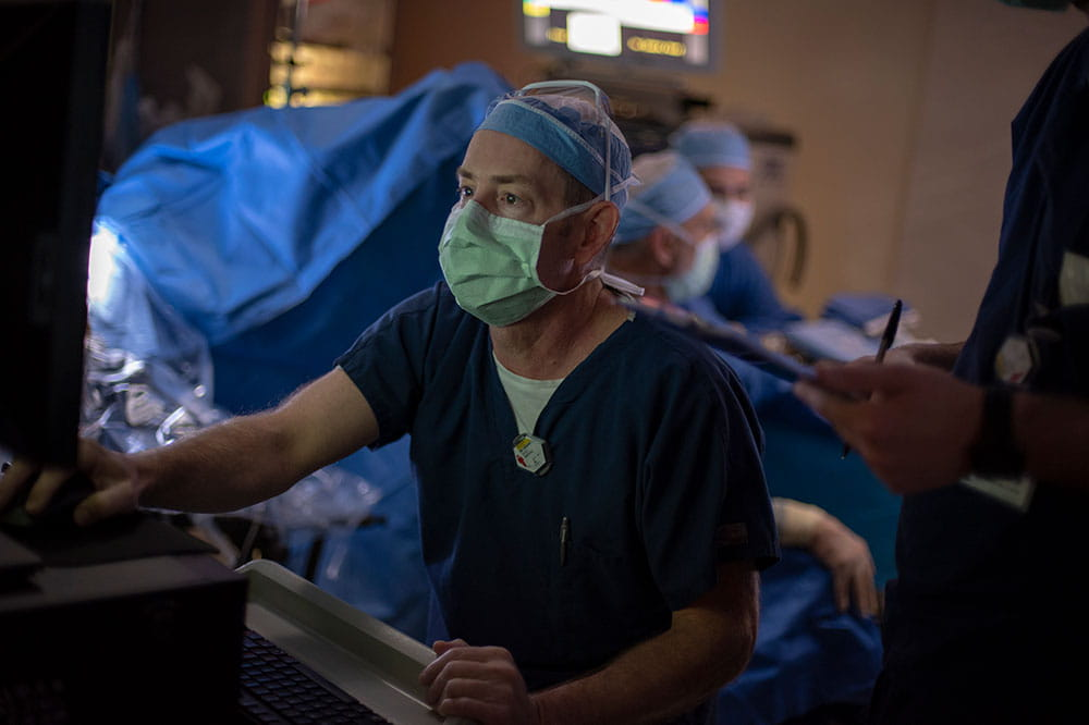Dr. David Marshall in the operating room