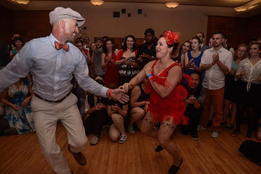 Melissa Koci dancing with a male dancer