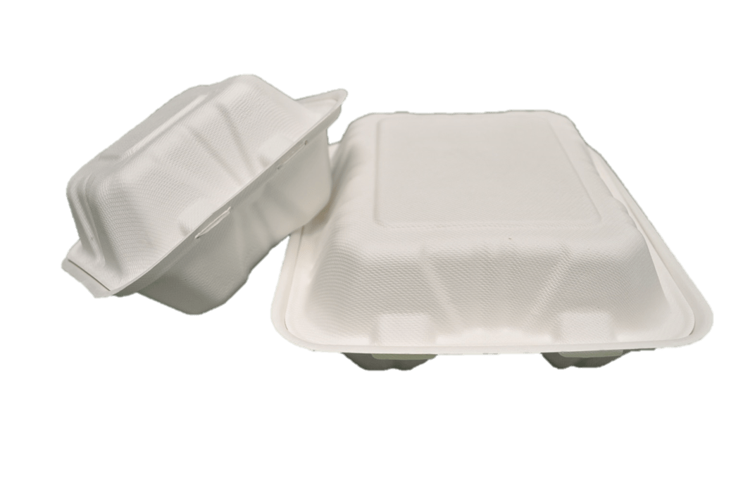 Compostable clamshell containers for to-go food