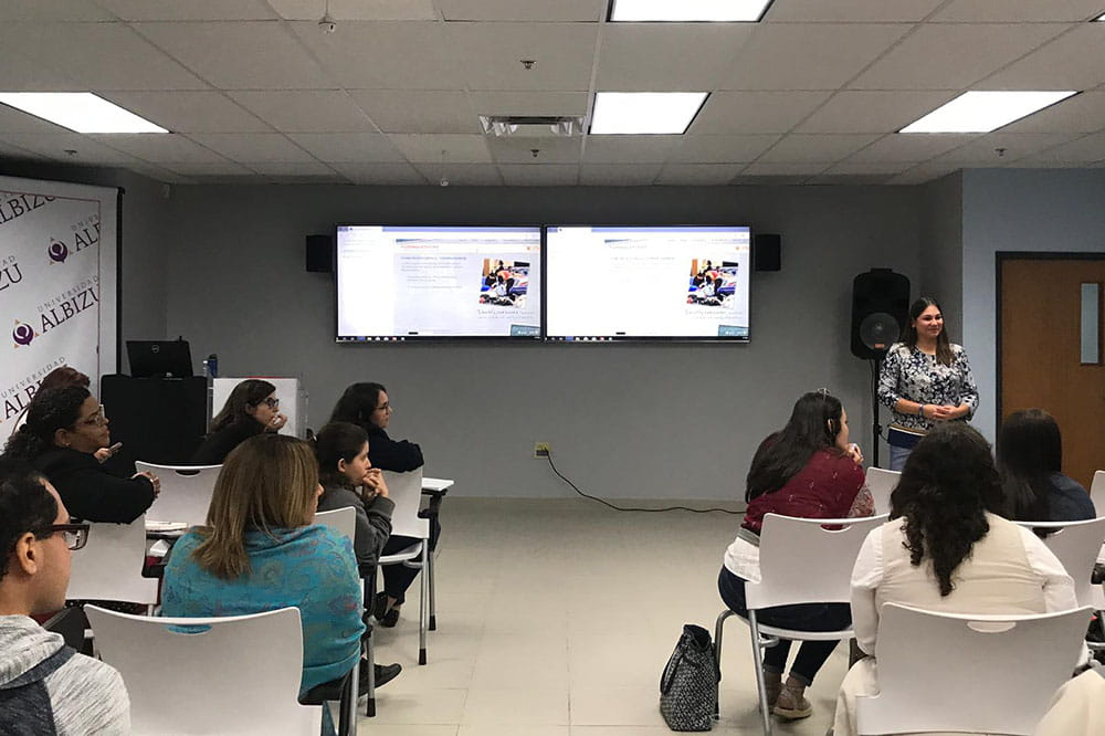 Dr. Rosaura Orengo-Aguayo gives a presentation in Puerto Rico
