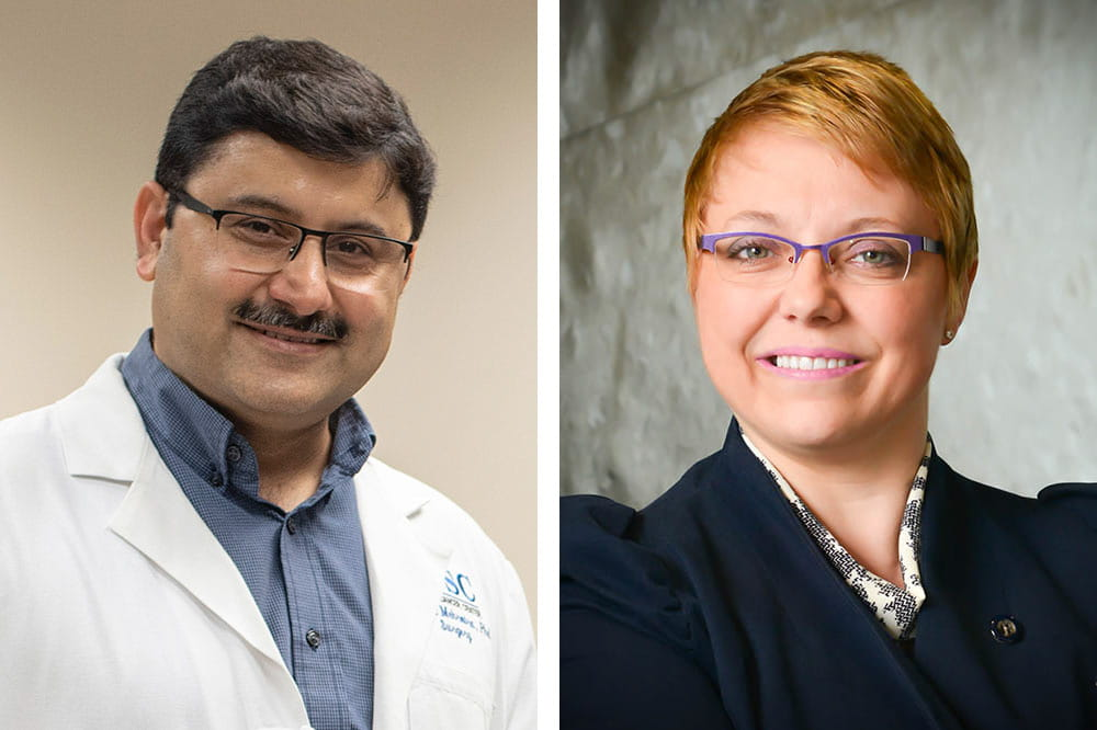 Dr. Shikhar Mehrotra and Dr. Sophie Paczesny