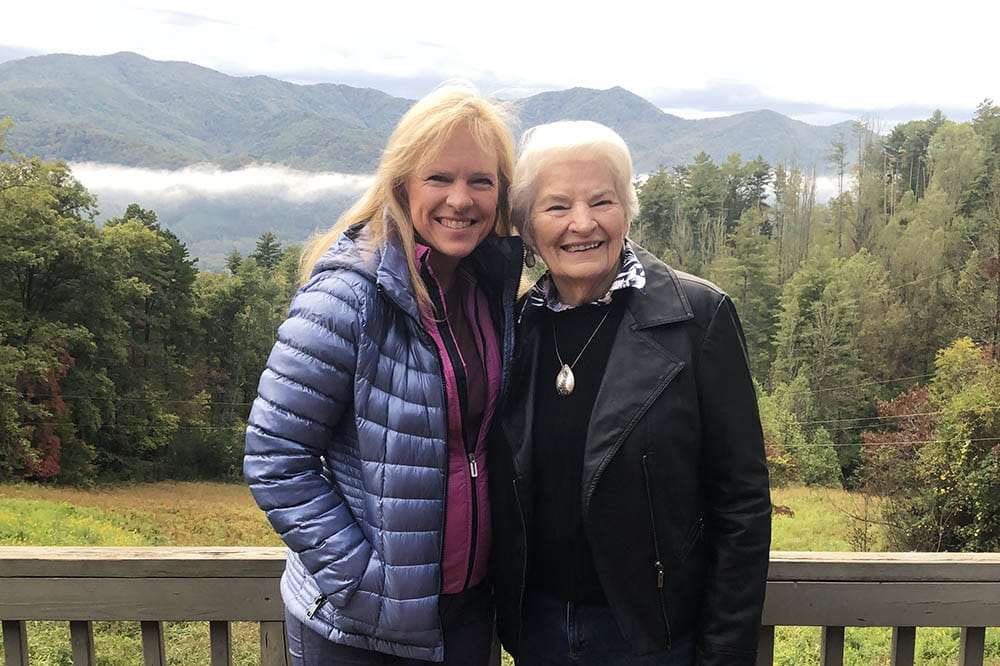Dawn Brazell with her mother Sara Cutler on vacation in North Carolina
