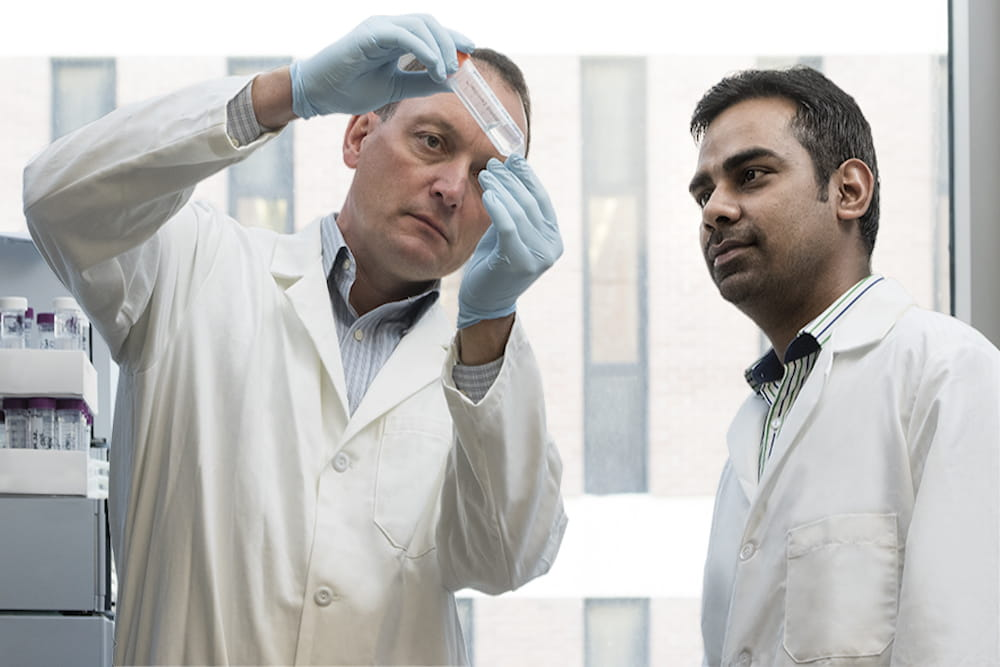 Dr. Christopher Davies and Dr. Avinash Singh of the Medical University of South Carolina