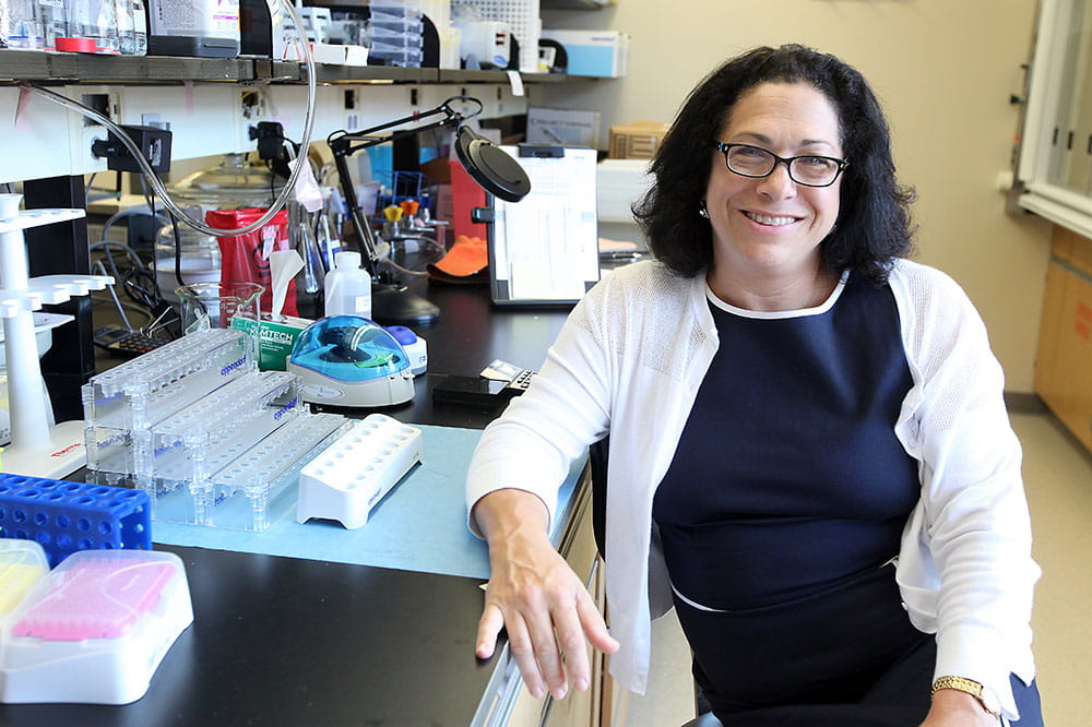 Dr. Nancy Klauber-DeMore in her lab