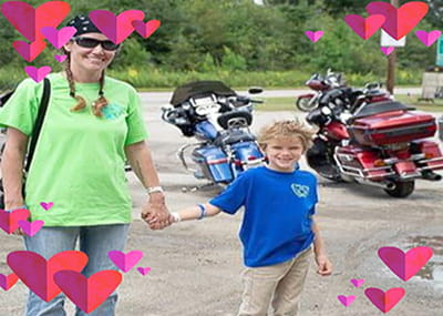 Jennifer Young and son Brice Young following the Sept. 12 memorial bike ride with friends honoring Alex Young.