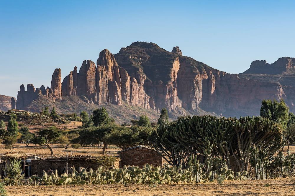 landscape photo of Tigray region with mountains in background