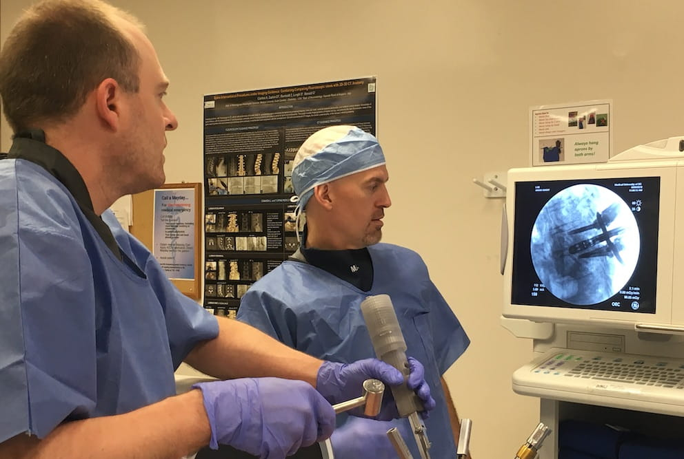 Dr. Kalhorn and Mark Semler discussing the TranZform XRay.